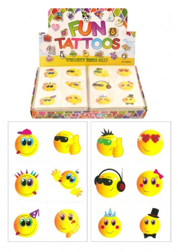 Smiley Face Themed Tattoos (Box)